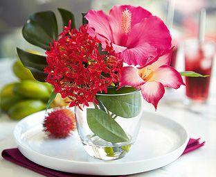 Reception Hibiscus Flower Attangement Boda Ideas Hibiscus