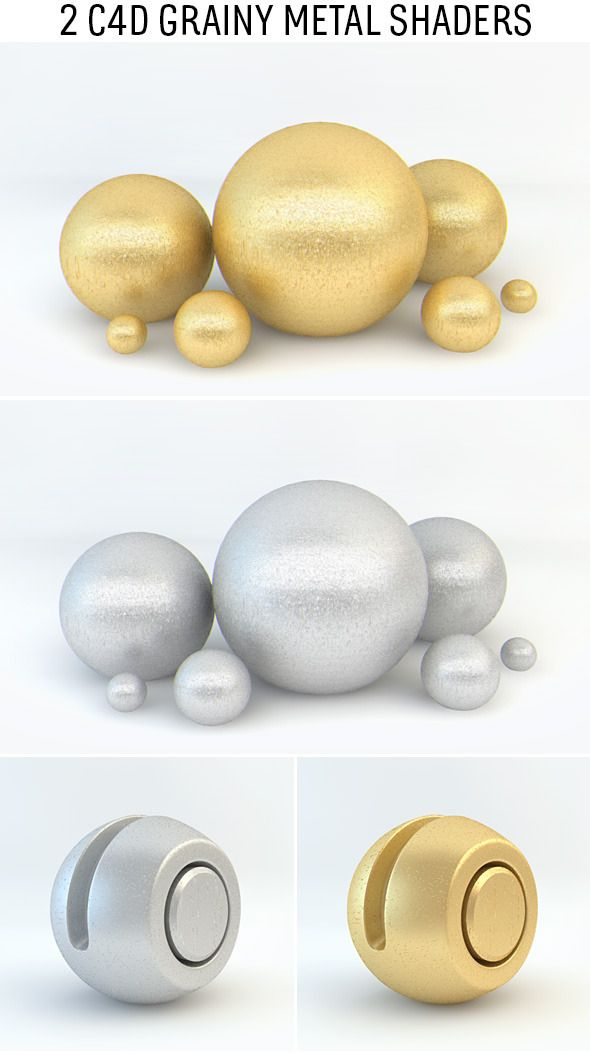 Grainy Metal Shaders for C4D #Metal, #Grainy, #C4D, #Shaders