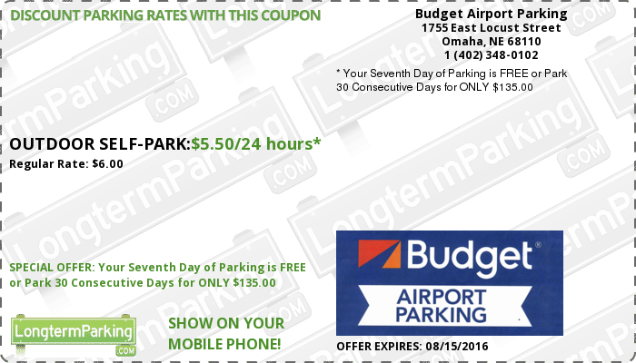 Budget Airport Parking Airport Parking Coupon from