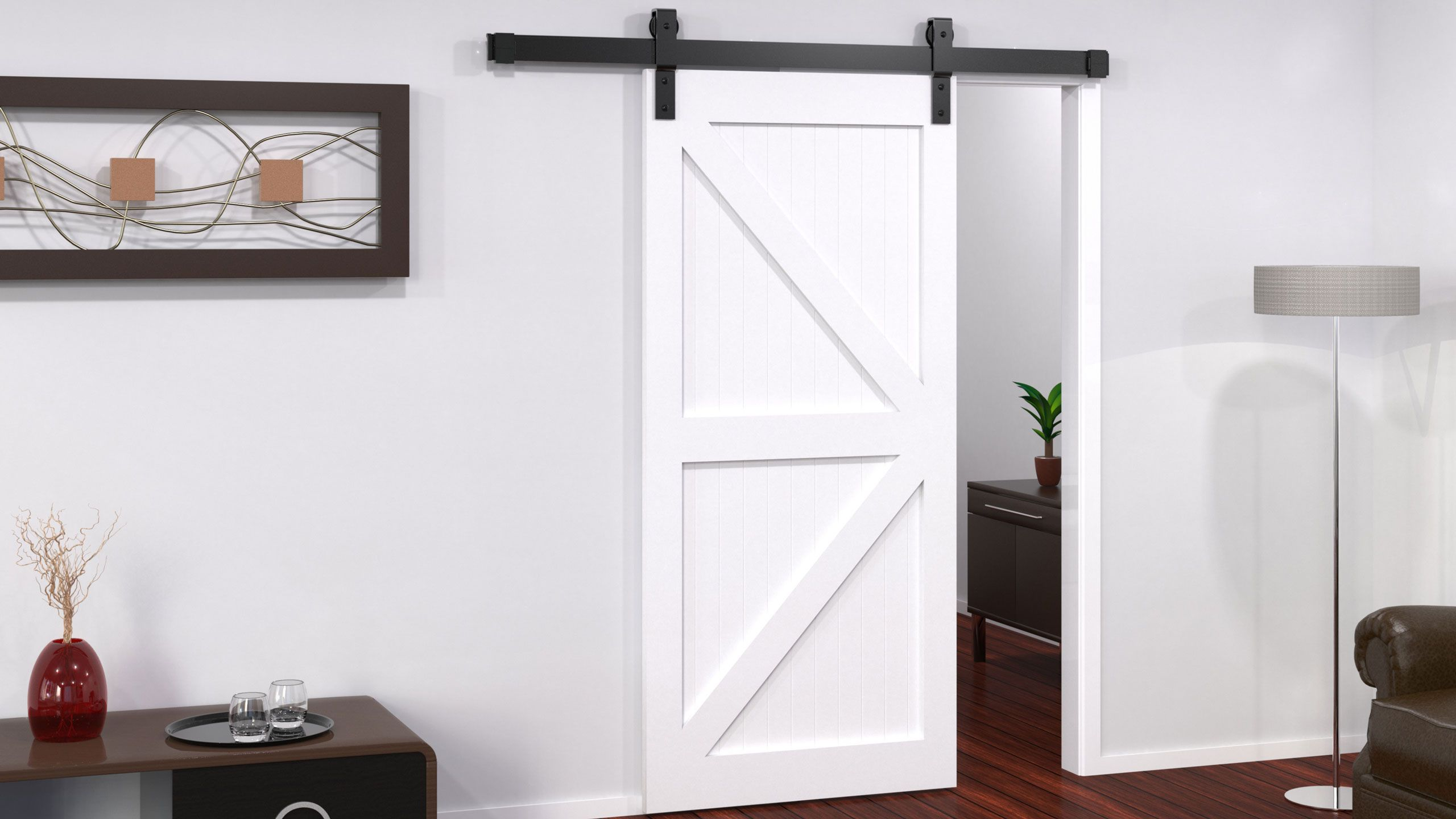 63 Reference Of Door Barn White In 2020 Barn Door Track Solid Oak Bedroom Furniture Sliding Barn Door Track
