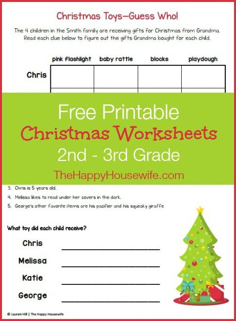 Christmas Themed Worksheets Free Printables The Happy Housewife Home Schooling Christmas Worksheets Holiday Worksheets Free Printable Christmas Worksheets Theme worksheets grade 3