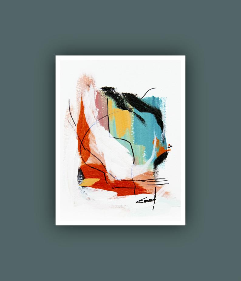 Instant Digital Download Art Abstract Flower Painting Contemporary Art Printable Abstract Art Printable Artwork Modern art prints
