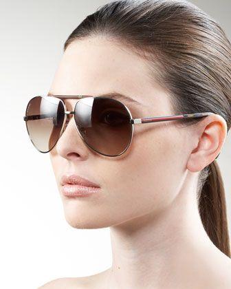 c23b47565a3 Basic Aviator Sunglasses by Gucci at Bergdorf Goodman. Gucci Sunglasses