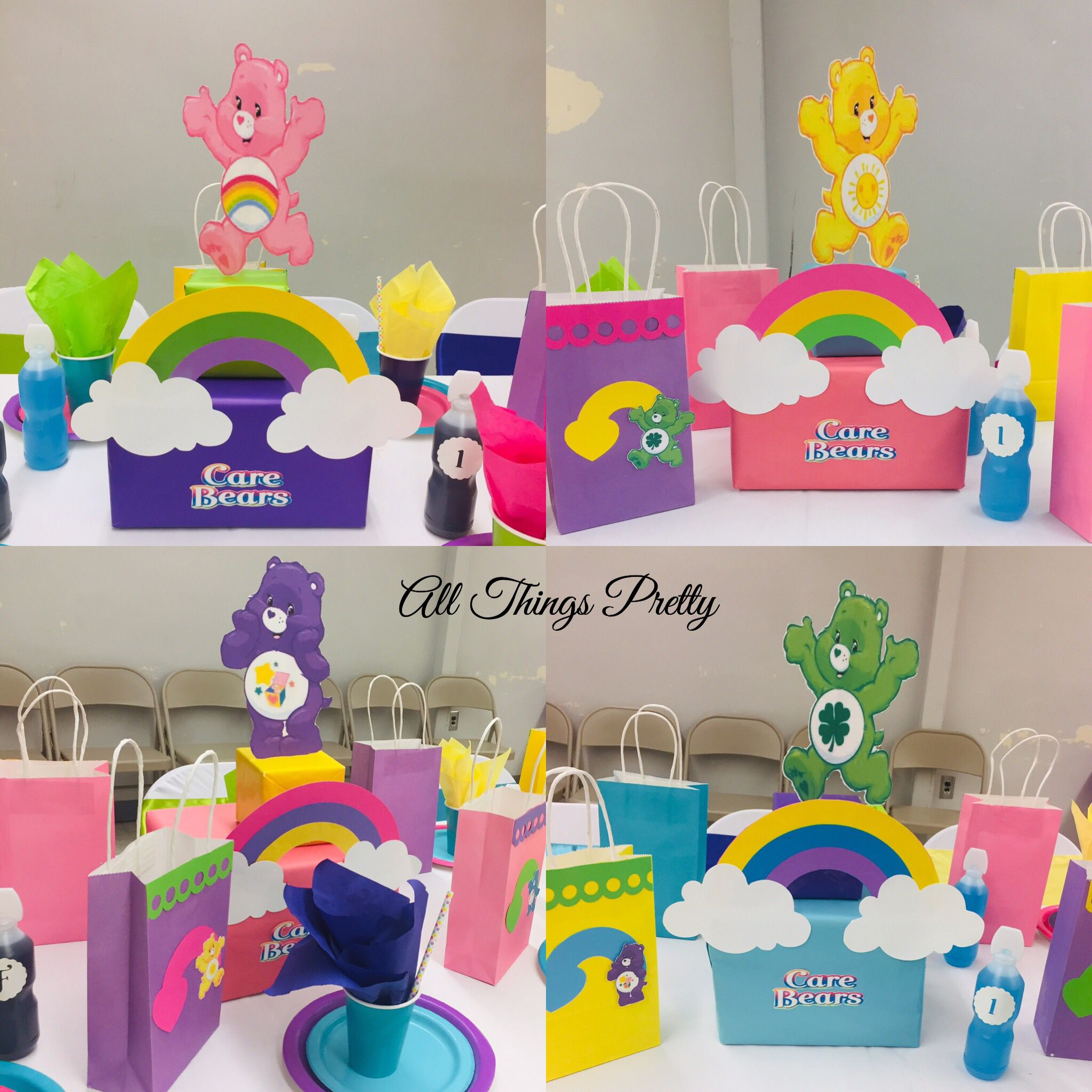 Care Bears Centerpieces I Created For A Birthday Party