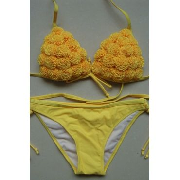 Sexy Charme Rose Yellow Biquinis