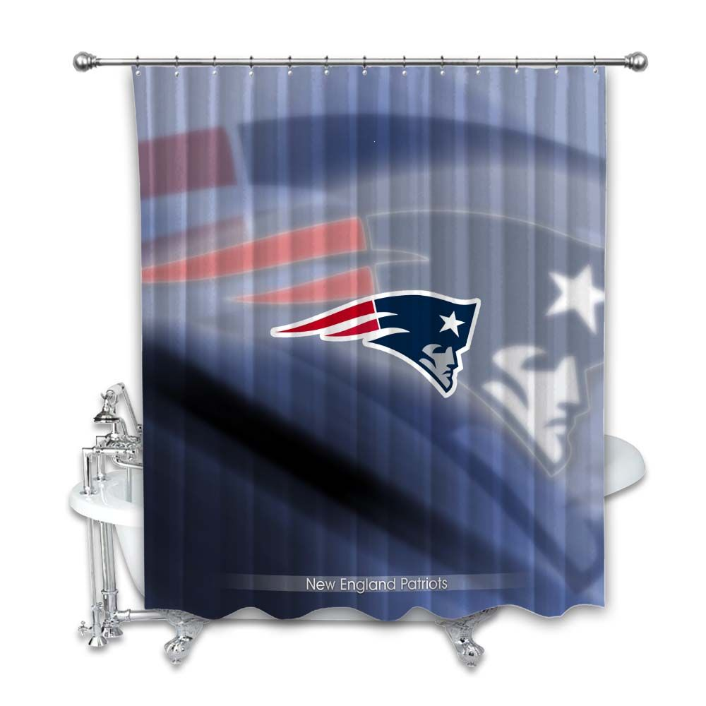 New England Patriots Nfl Football Logo Team Shower Curtain In 2020