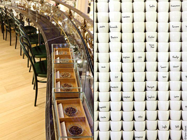 Starbucks Store At Galeries Lafayette La Coupole Paris Retail Design Blog Starbucks Design Starbucks Store Fine Restaurant