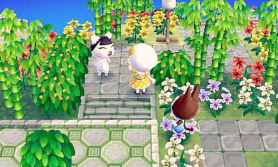 Town inspirtaion neat zen garden Animal crossing astuce