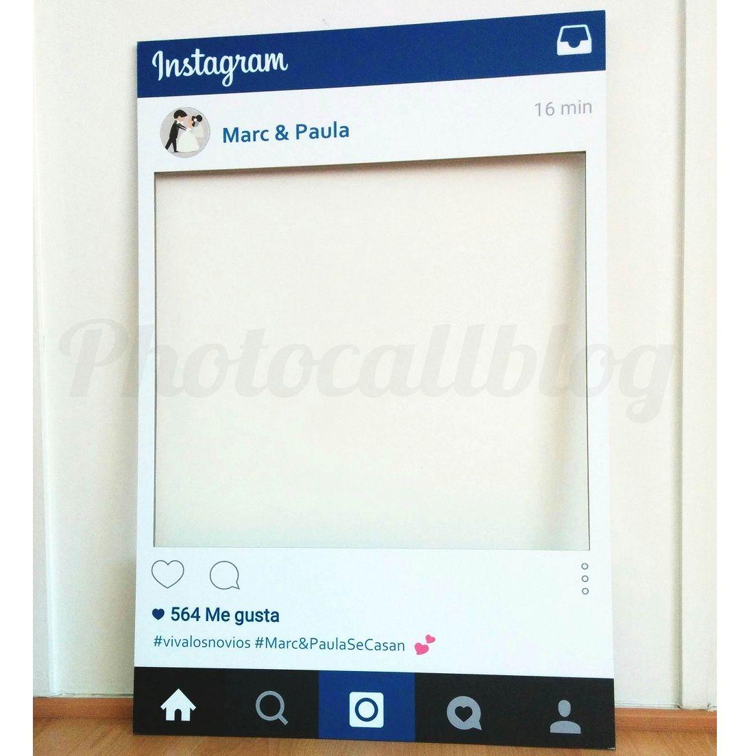 PHOTOCALL MARCO INSTAGRAM PERSONALIZADO | Fotocol, Instagram y Cumple