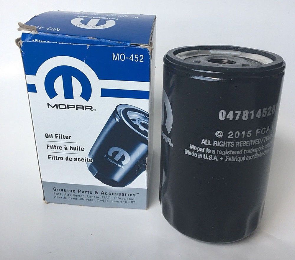 Engine Oil Filter Mopar 04781452bb Mo 452 Mopar Oil Filter Mopar Oils