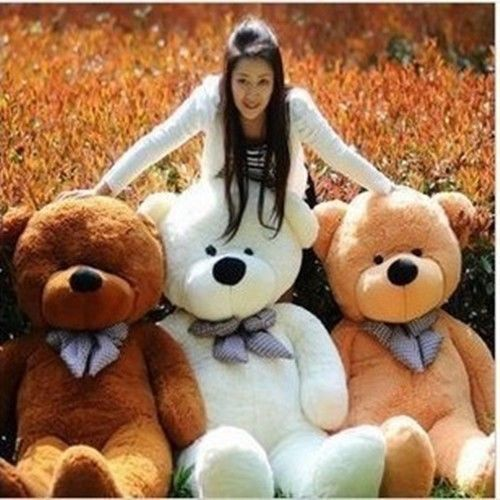 New 80cm Big Plush Sleepy Teddy Bear Huge Soft 100% Cotton Toys 3 colours u pick