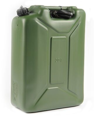 20l Plastic Fuel Jerry Can Army Green Petrol Diesel Water 20 Litre With Spout Jerry Can Petrol Green Jeep