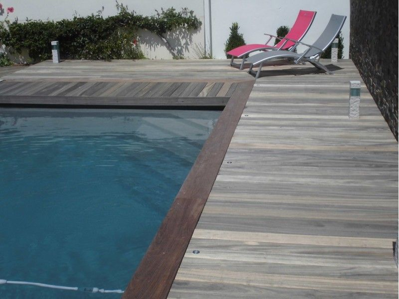 ordinaire Ipé - Margelle bois piscine 24 cm - Tekabois