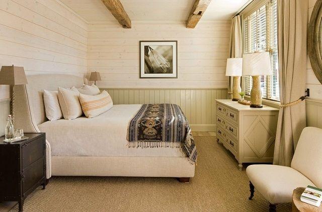 Wandgestaltung Schlafzimmer Landhausstil