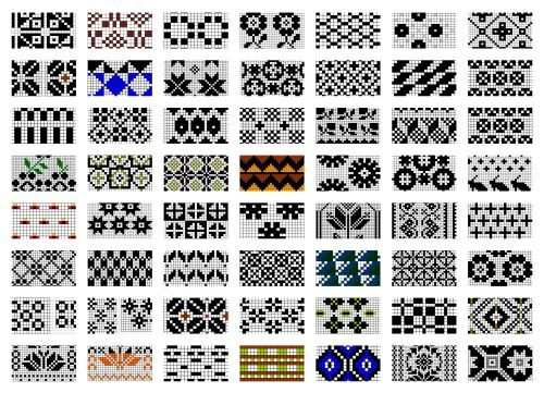 Rake gloves/Estonian charts | Estonian Design | Pinterest ...