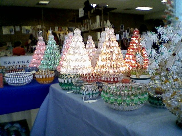 Beaded Lighted Trees Made From Safety Pins And Beads Great Giftse
