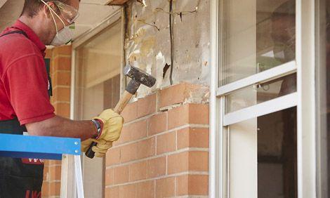 Remove Brick Ties When Taking Down Brick Wall Brick Wall Brick House Exterior