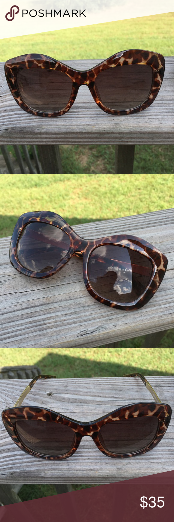 Lucky Brand Cat Eye Tortoise Shell Sunglasses Tortoise