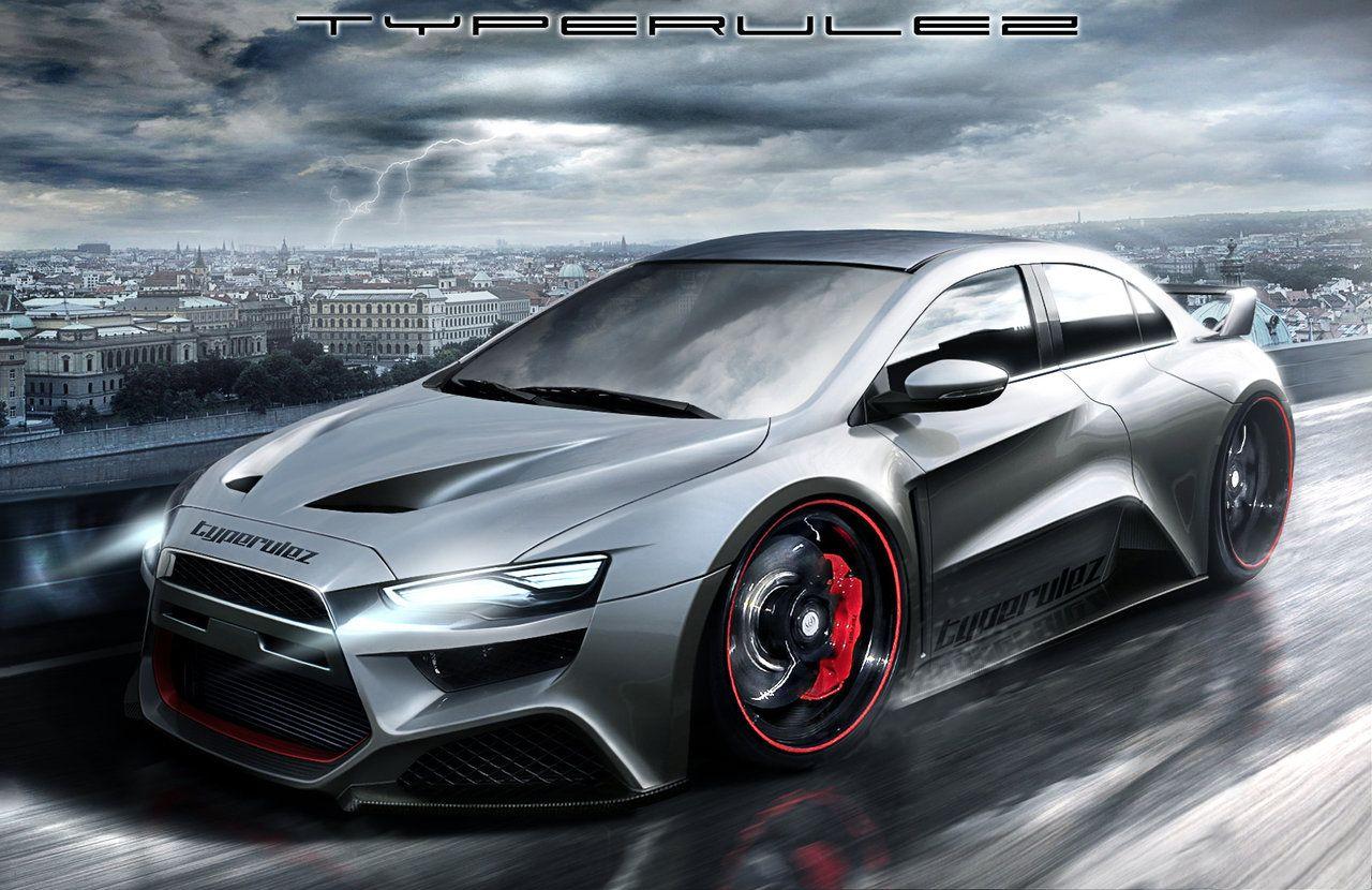 An evo concept car