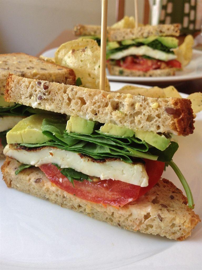 Grilled Haloumi Sandwich on Toasted Gluten-Free Bread