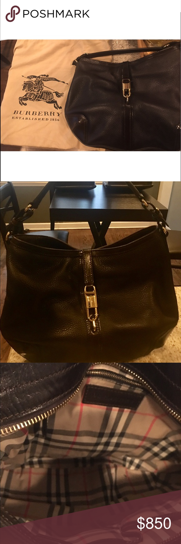 40a4dba45ec Authentic Burberry handbag Like new authentic Burberry handbag  1200 purse  only carried it once or twice, Beautiful brown leather outside, inside  Burberry ...