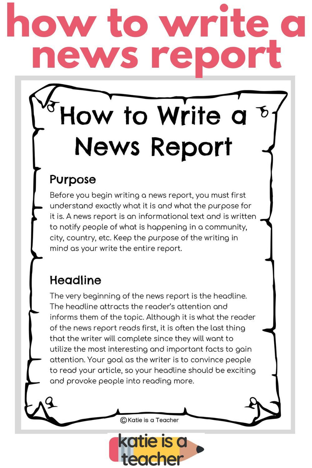 Writing a News Report  Writing lessons, Informational text, Writing