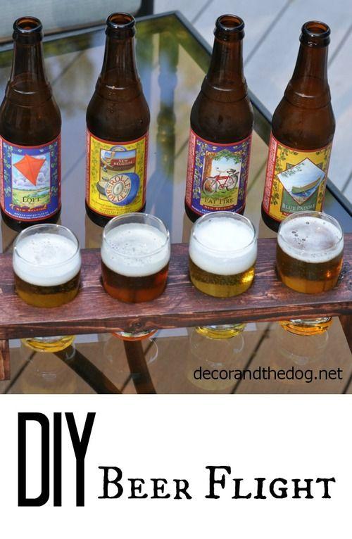 DIY Beer flight carrier
