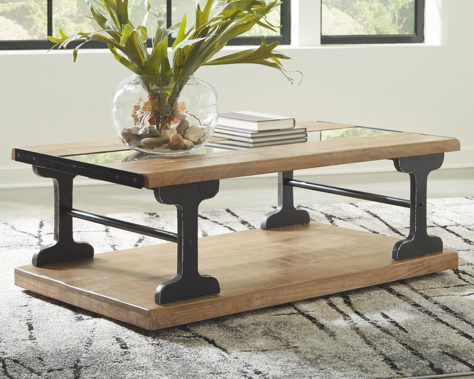 Calkosa Coffee Table T894 1 Details Urban Industrial Meets Country Farmhouse In This Cockta Coffee Table Farmhouse Style Coffee Table Live Edge Coffee Table [ 1328 x 1660 Pixel ]
