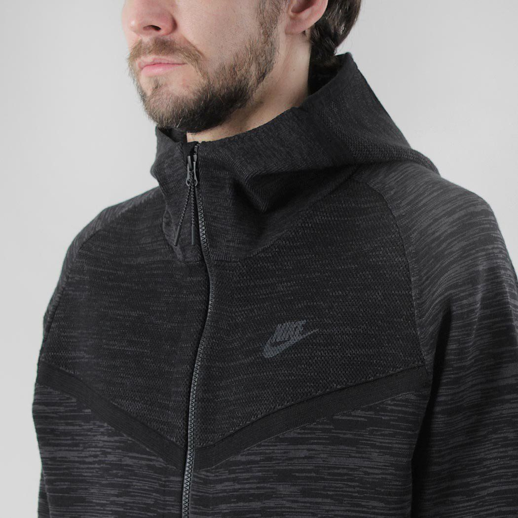 Progreso inalámbrico predicción  Nike Tech Knit Windrunner Hoody - Black/Anthracite | Nike tech, Nike shoes,  Nike acg