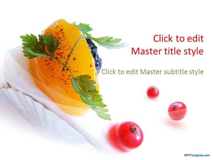 Free Dessert PPT Template | Projects to Try | Food
