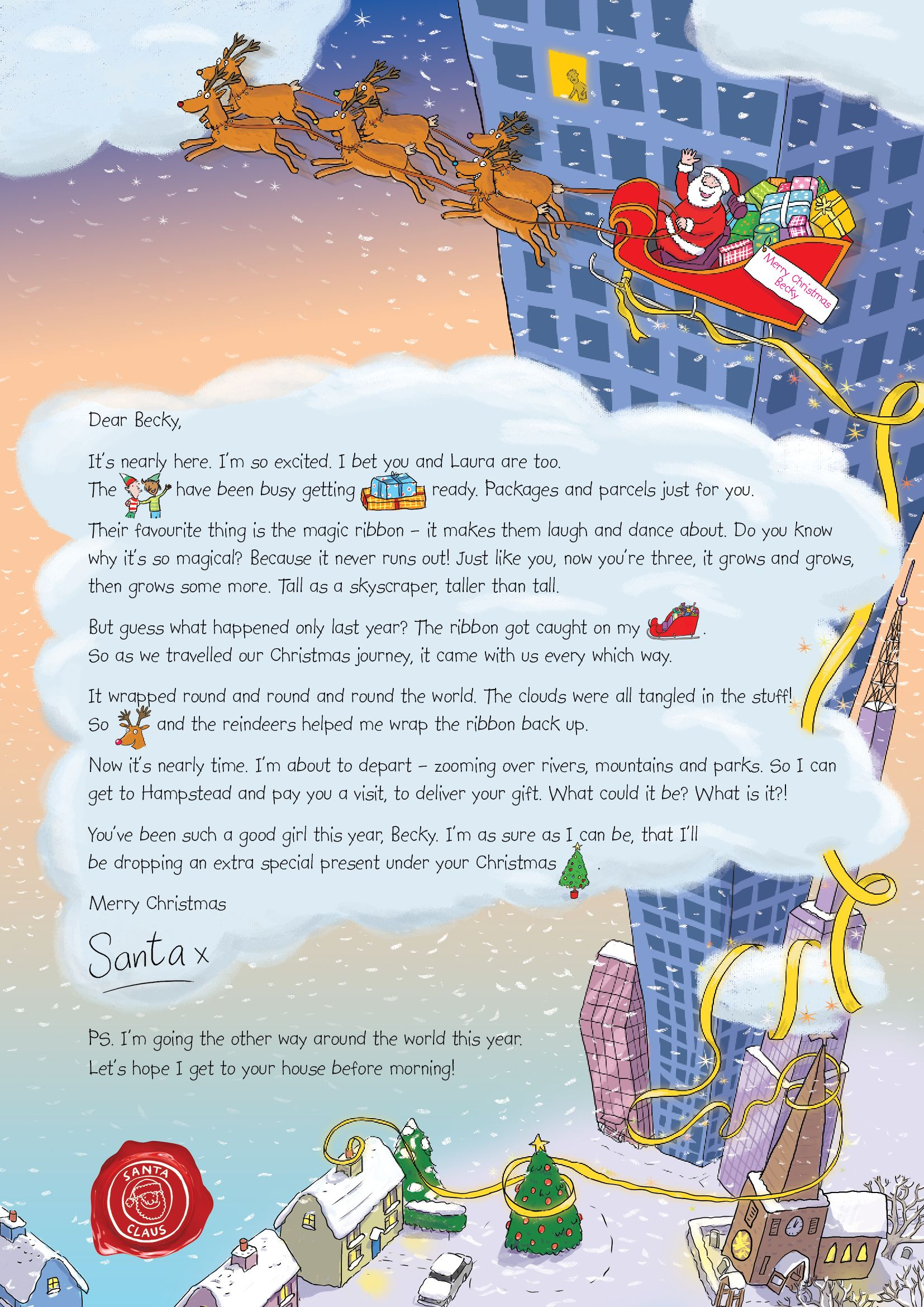 Letter from santa make a childs christmas magical whilst letter from santa make a childs christmas magical whilst helping the nspcc spiritdancerdesigns Image collections