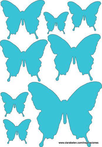 Moldes plantillas patrones de mariposas buscar con - Plantillas de mariposas ...