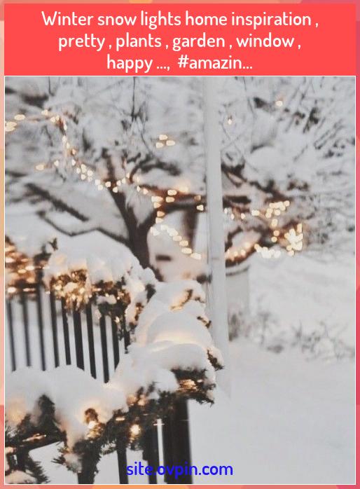 Photo of Winter snow lights home inspiration , pretty , plants , garden , window , happy …,  #amazin… – Blog