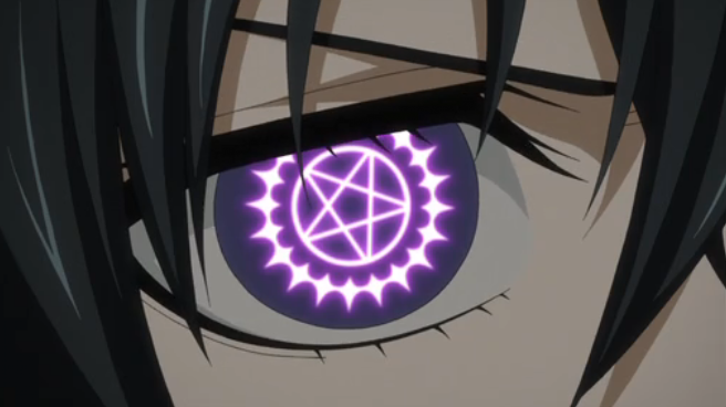 Ciel and the symbol of his Faustian contract