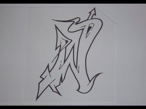 Alphabet Graffiti N 1 Semi Wildstyle Letters Hd Graffiti Lettering Graffiti Lettering Alphabet Graffiti Text