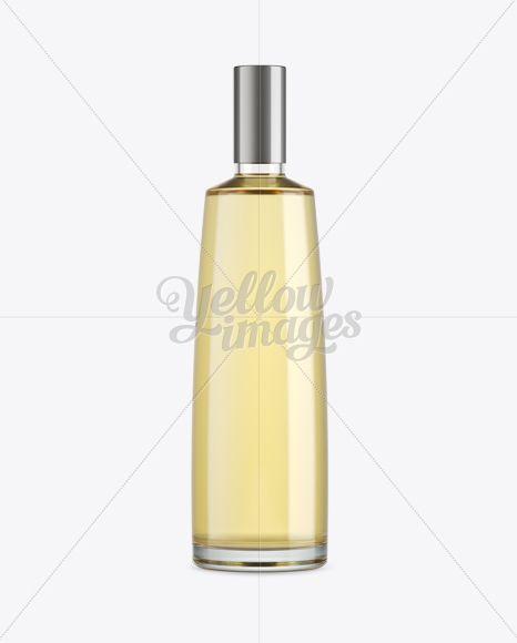 White Wine Glass Bottle Mockup