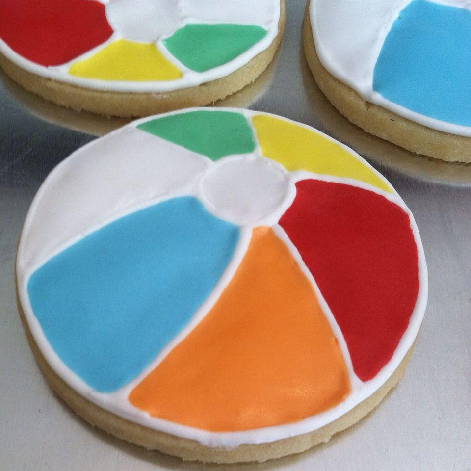 Beach ball sugar cookies, from Charleston Flour Garden ...