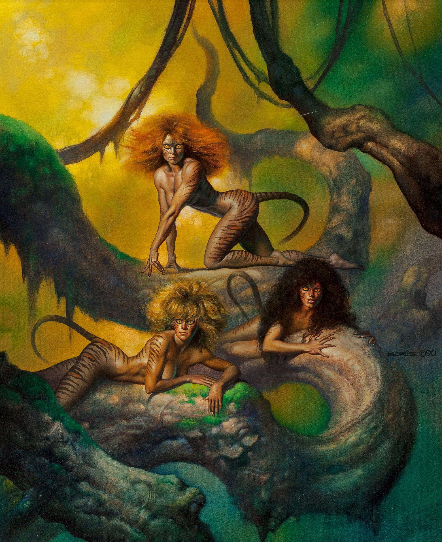 Boris vallejo predators 1990 fantasy sci fi art for Art of minimal boris