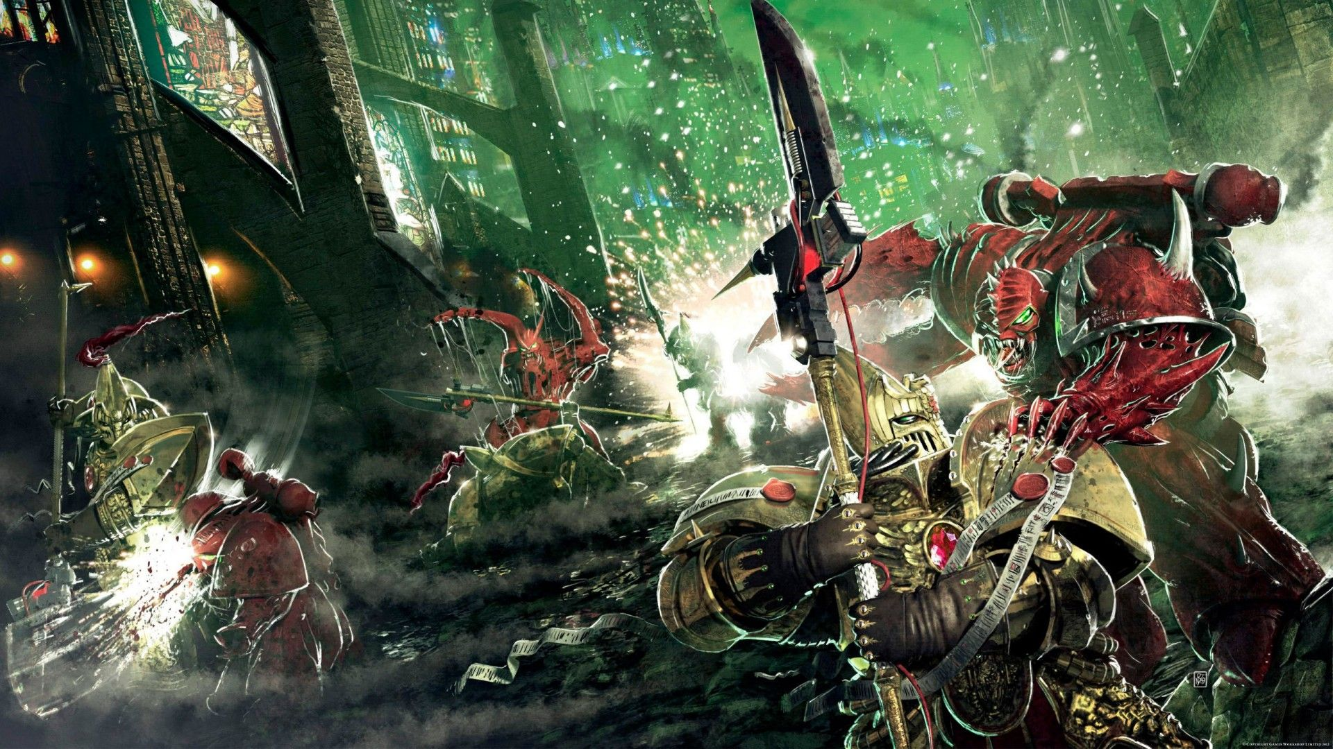 Space Marines Wallpaper Chaos Space Ma Warhammer 40k Artwork