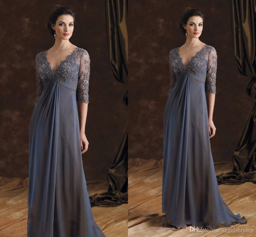 2cd7942a006b6 ... Mother Of The Bride Dresses Sexy Deep V Neck Empire Waist Backless Formal  Evening Dresses Long Bridal Party Gowns Mother Of The Bride Dresses Plus  Size ...