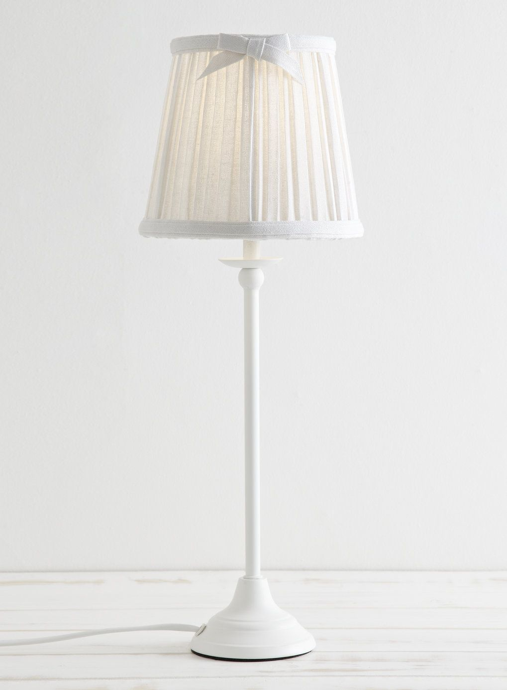 Pleated Shade Stick Lamp Table Lamps Home, Lighting