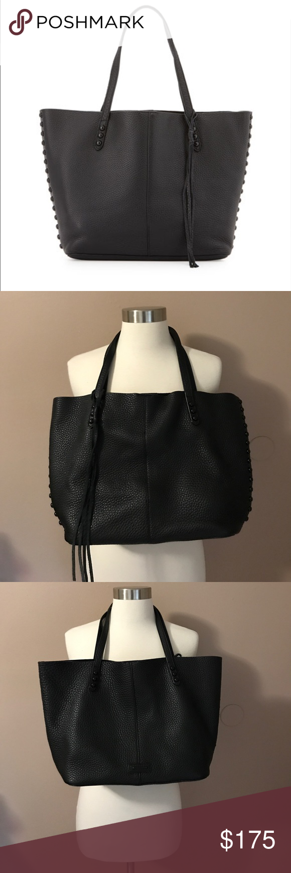 7f6a7021d Rebecca Minkoff Unlined Tote Dome Studs Made from buttery soft leather and  accentuated with black studs