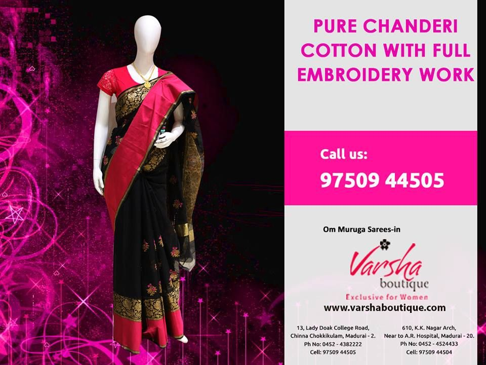 Customize Your Classic Look With Our Revolutionary Designs And The Brand New Arrivals Pure Chaderi Cotton With Full Classic Looks Fancy Sarees Festival Season