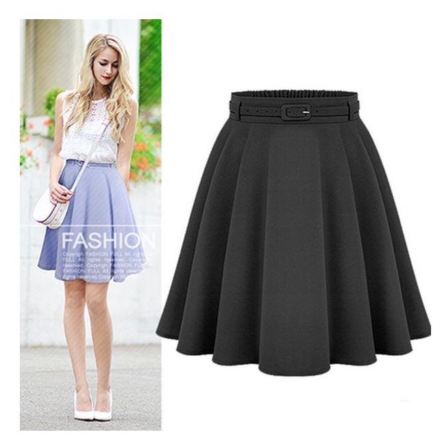 Encontrar Más Faldas Información acerca de Women   s Casual media longitud  de la rodilla faldas Retro con estilo femenino de cintura alta vestido de  bola ... 852f08c6afa0