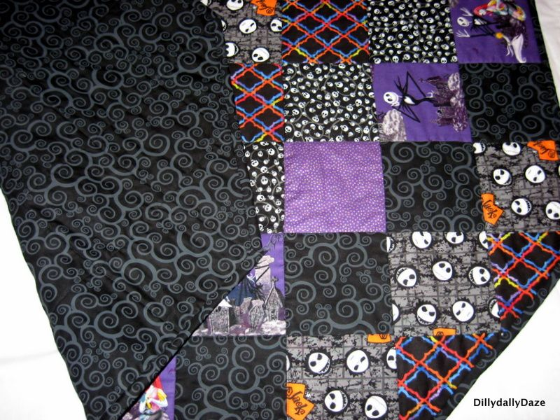 Nightmare Before Christmas Tree Skirt Quilted Nightmare