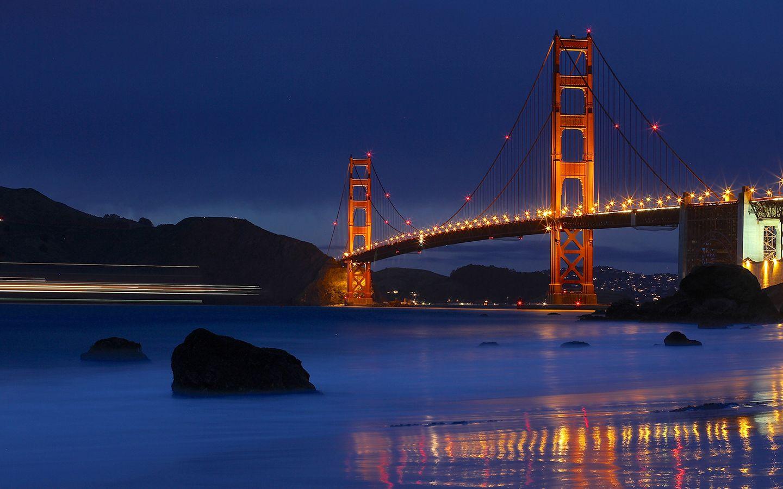 Golden Gate Bridge Night Wallpapers For Iphone Golden