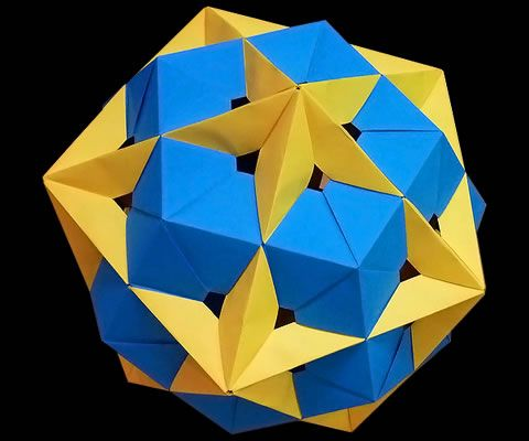 Origami Icosahedron and Dodecahedron