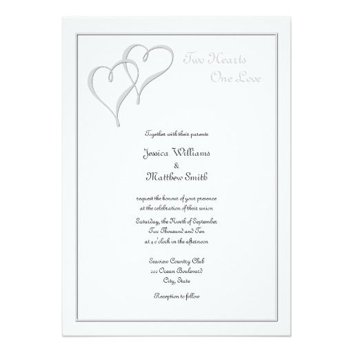 two hearts one love wedding invitations wedding invitations