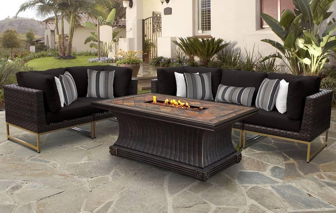 Tk Classics Barcelona 6 Piece Outdoor Wicker Patio Furniture Set