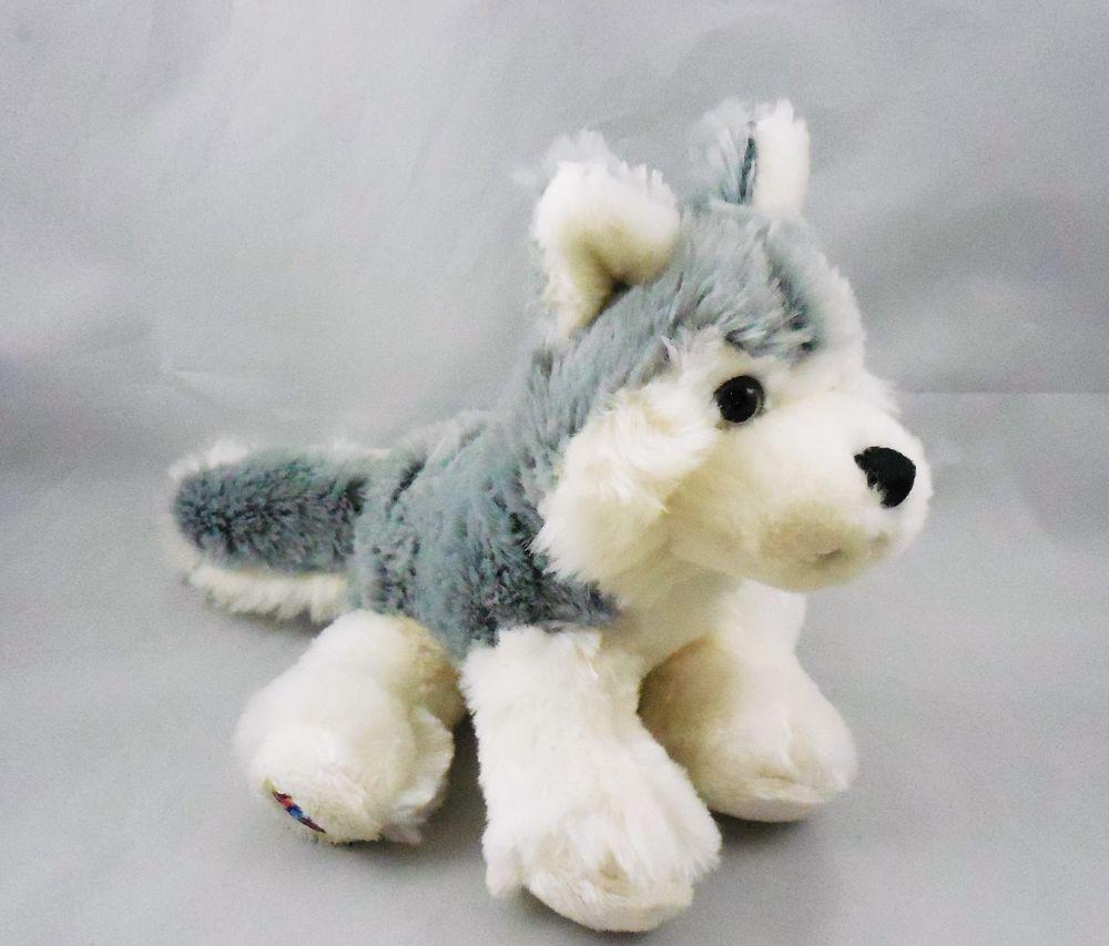 Ganz Lil Kinz Husky Puppy Dog Hs120 Plush Stuffed Webkinz Toy